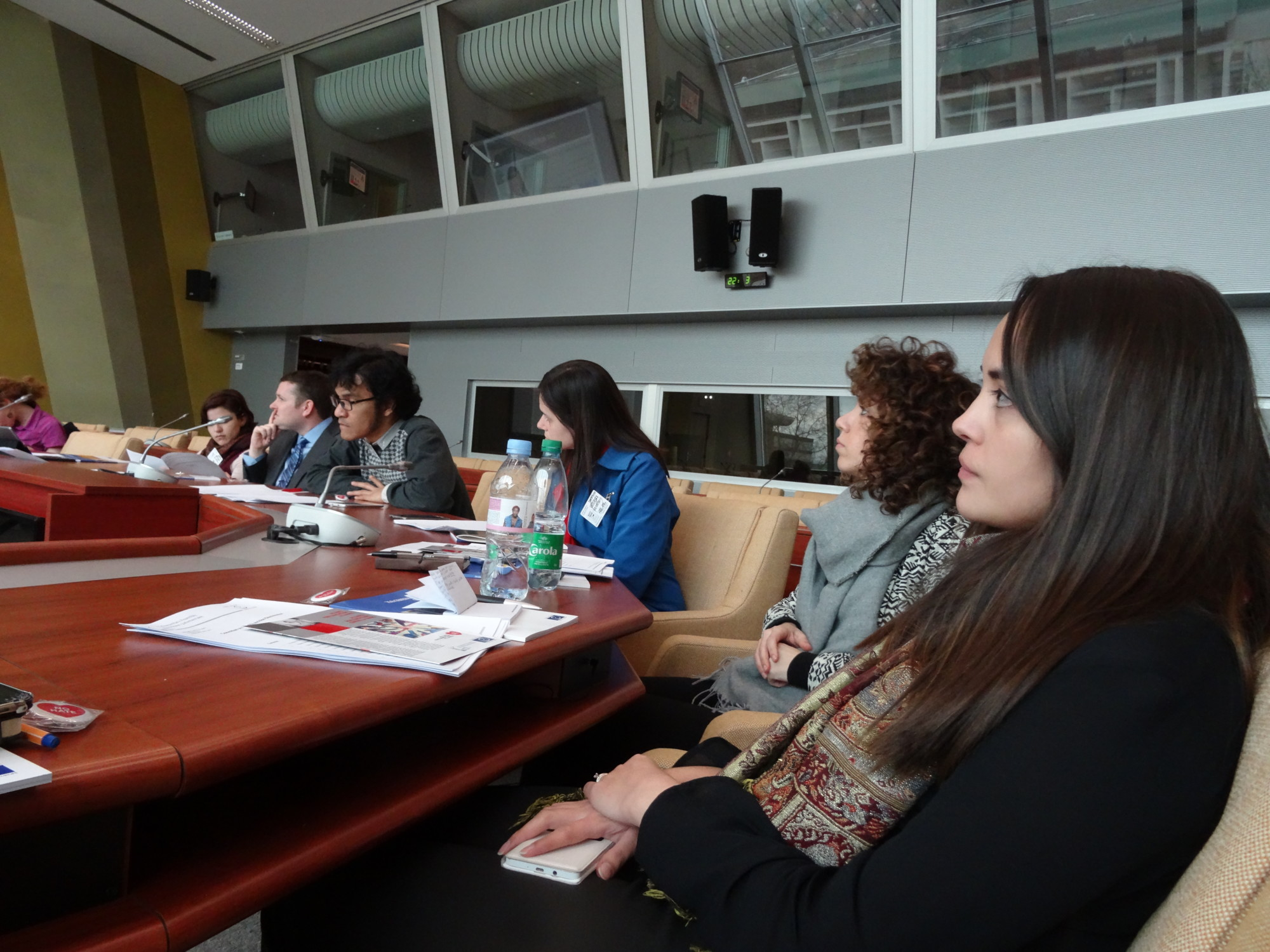 group of students attending a visit at the Council of Europe