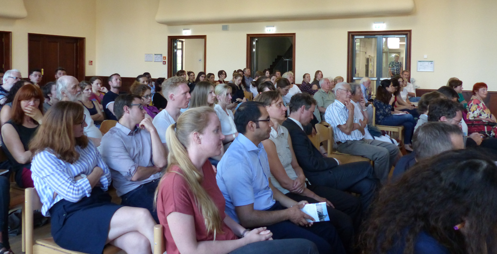 audience at Morten Kjaerums lecture