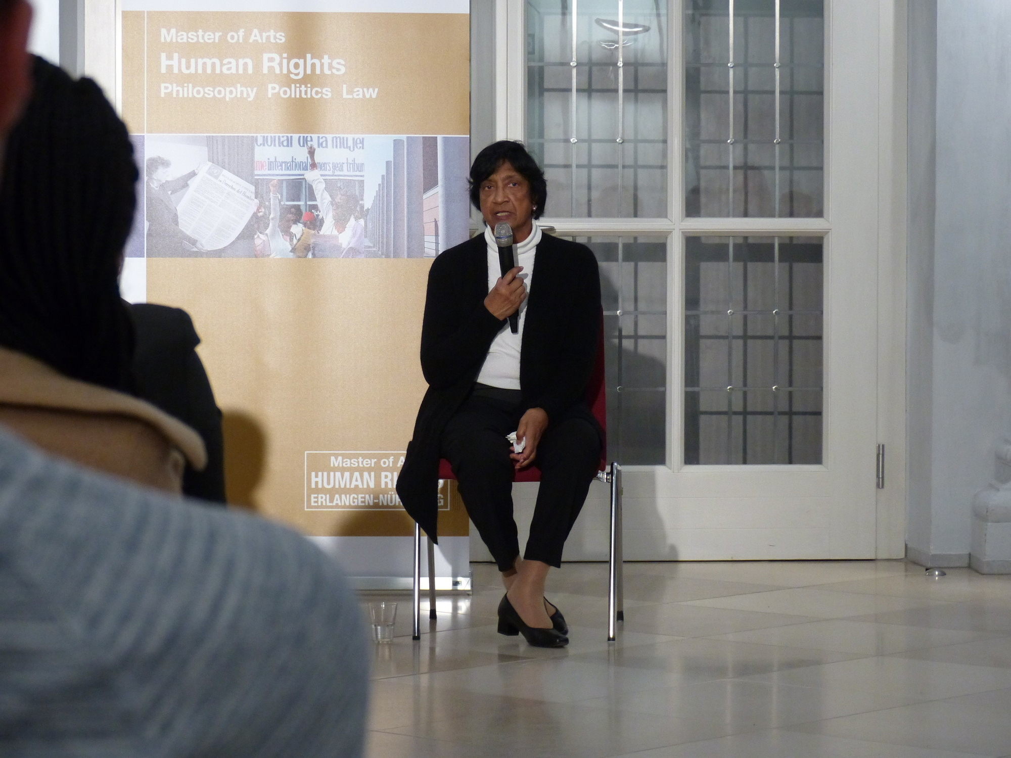 picture of Dr Navi Pillay during the opening lecture