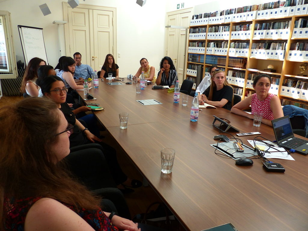 Our Students listening to Wolfgang Büttner at Human Rights Watch