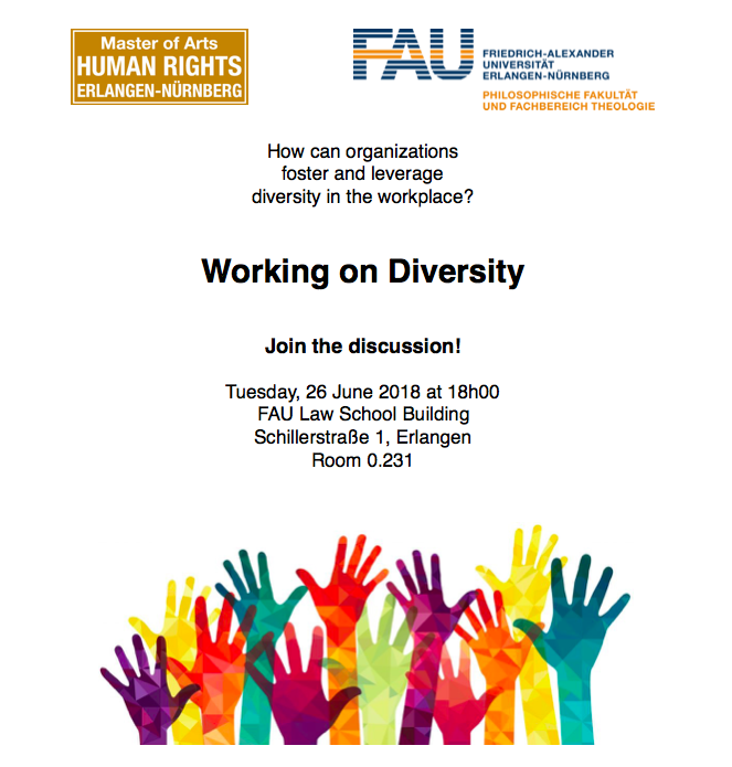 flyer for the discussion on diversity in the workplace