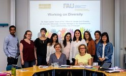 Group picture of the public discussion group on Diversity in the workplace