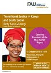 Picture of the Poster for the Master of Human Rights, featuring a lecture by Betty Murungi