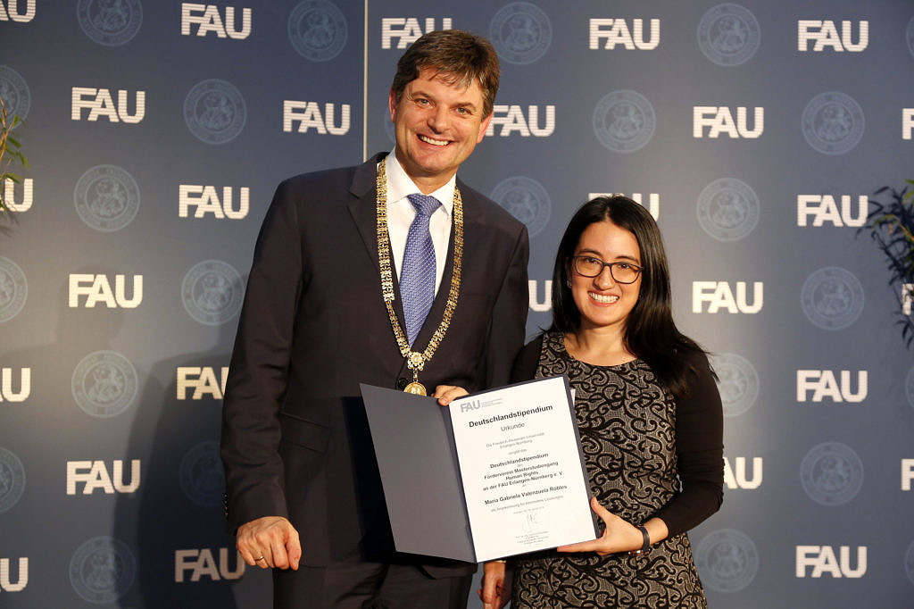Image from the Award of Germany Scholarship 2019 (© FAU/Giulia Iannicelli)
