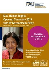 Picture of the Poster of the Opening Lecture for the MA Human Rights